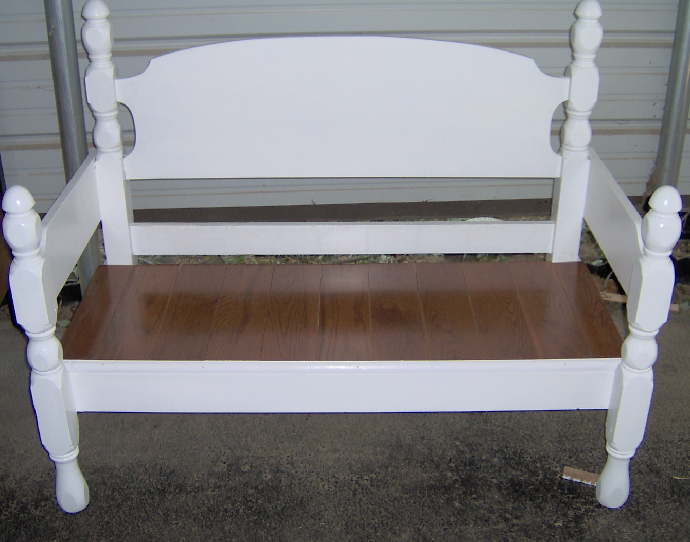 Four Poster Headboard Bench Easy My Repurposed Life
