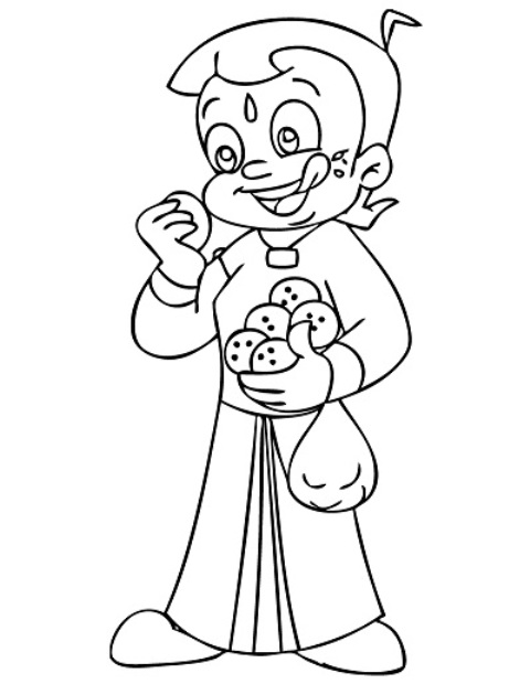 Chota Bheem Coloring Pages 6