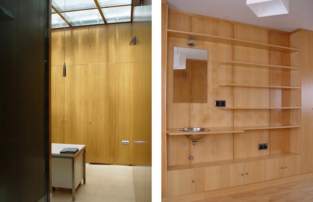 Revestimientos de pared de madera a medida espacios en madera - Forrar pared de madera ...