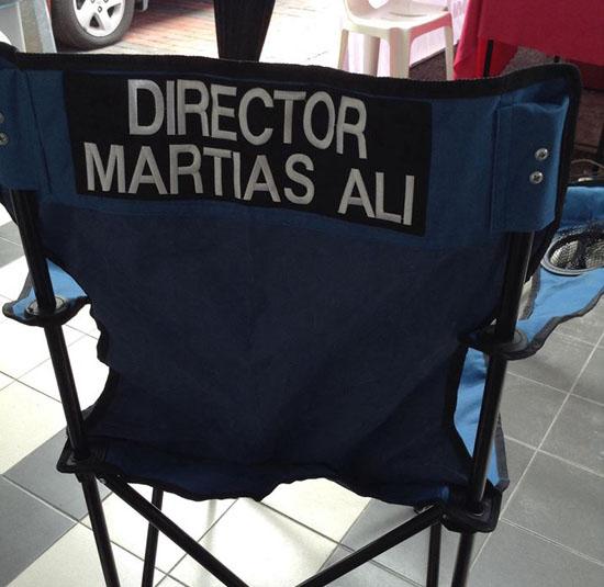 Martias Ali sebagai pengarah filem