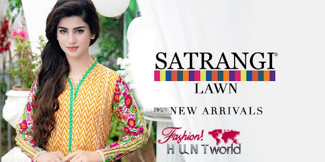 Pakistani Mid Summer Dresses 2015 Presented Satrangi By Bonanza