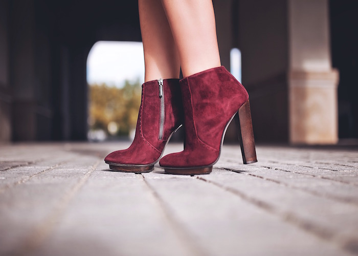 dear frances burgundy ankle boots