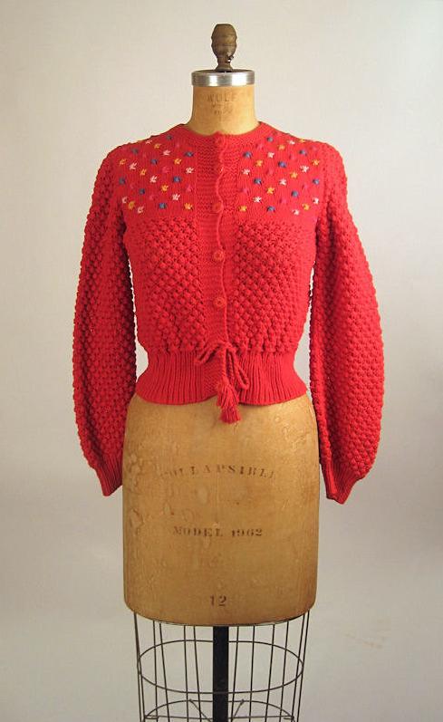 vintage sweater #vintage #sweater #red