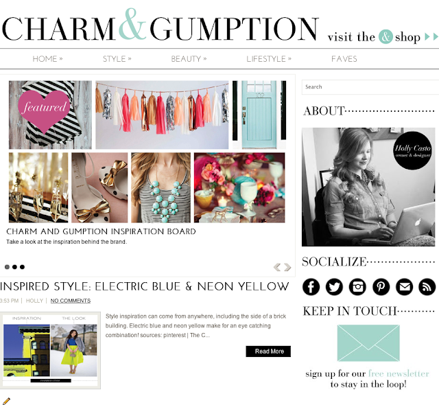 charm & gumption site (via Holly Would)