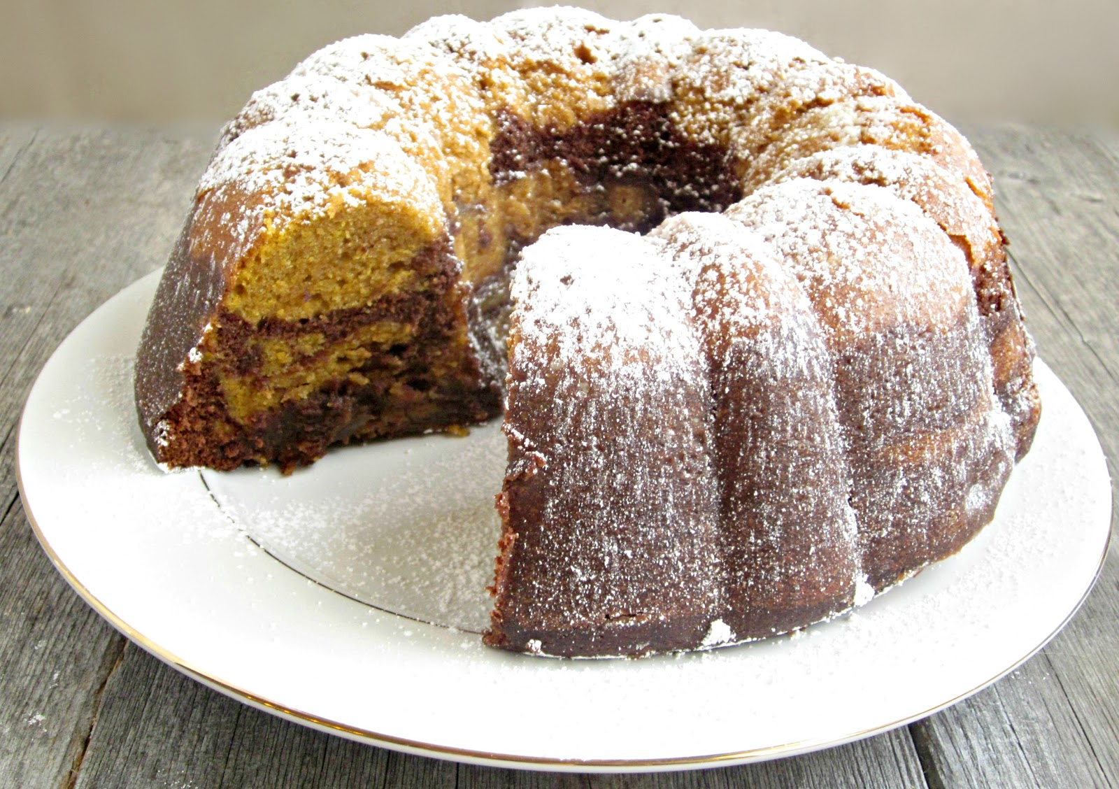 Hungry Couple: Chocolate Pumpkin Bundt Cake