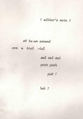 Umwelt, editor's note.