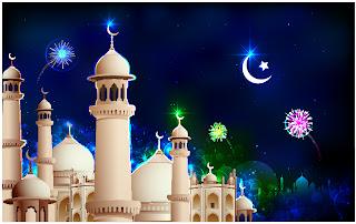 美しいモスクを臨む景色 mosque illustrations and backgrounds イラスト素材2