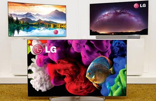 LG 4K OLED TV lineup