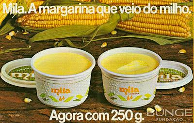 propaganda margarina Mila - Bunge 1976. história da década de 70. Reclame anos 70. Propaganda anos 70. Brazil in the 70s, Oswaldo Hernandez;