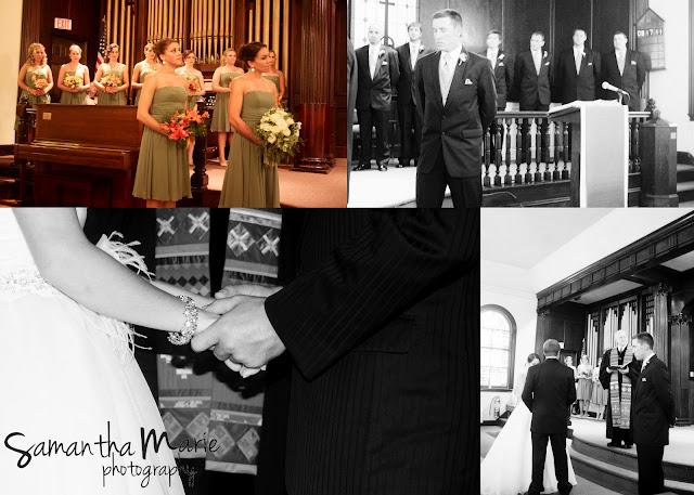 wedding ceremony at altar