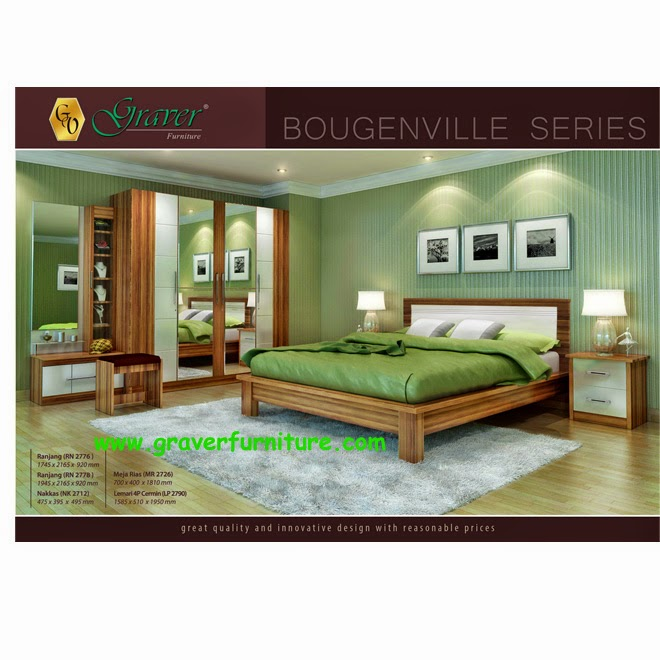 Bedroom Set Bougenville Series Graver Furniture