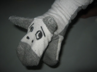 diy hand puppet out of used socks