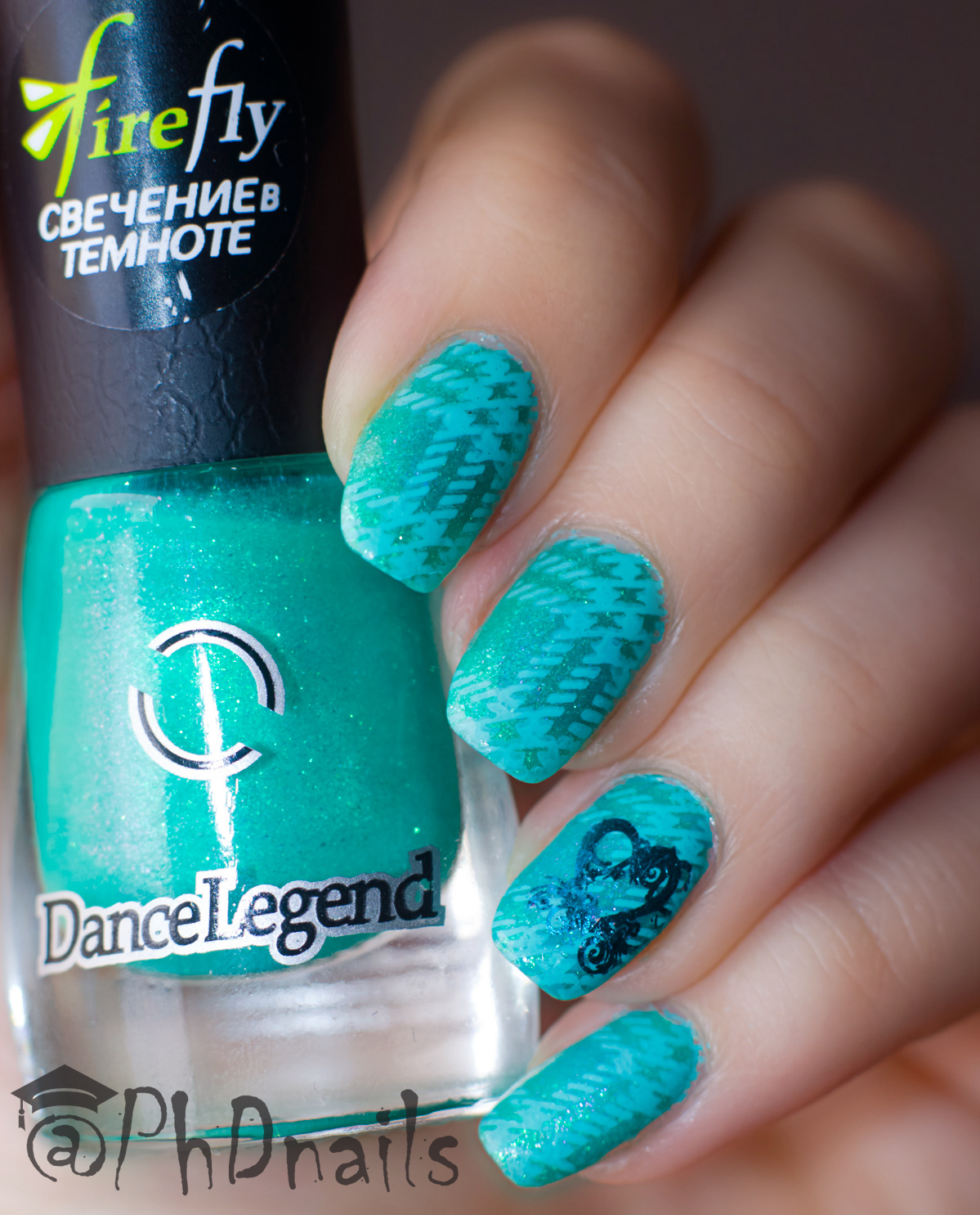 PhD nails: 40 great nail art ideas:Turquoise plaid nail design ...