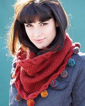 Bufandas y cuellos tejidos