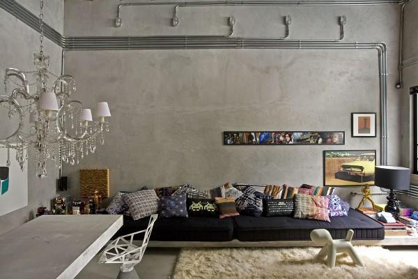 "Interior] Un loft ""brutalista"": GT House – Virlova Style"