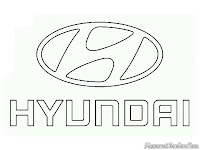Logo mobil Hyundai untuk diwarnai