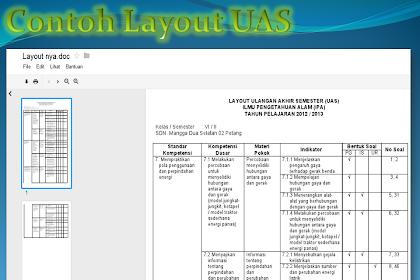 Layout UAS IPA Semester II