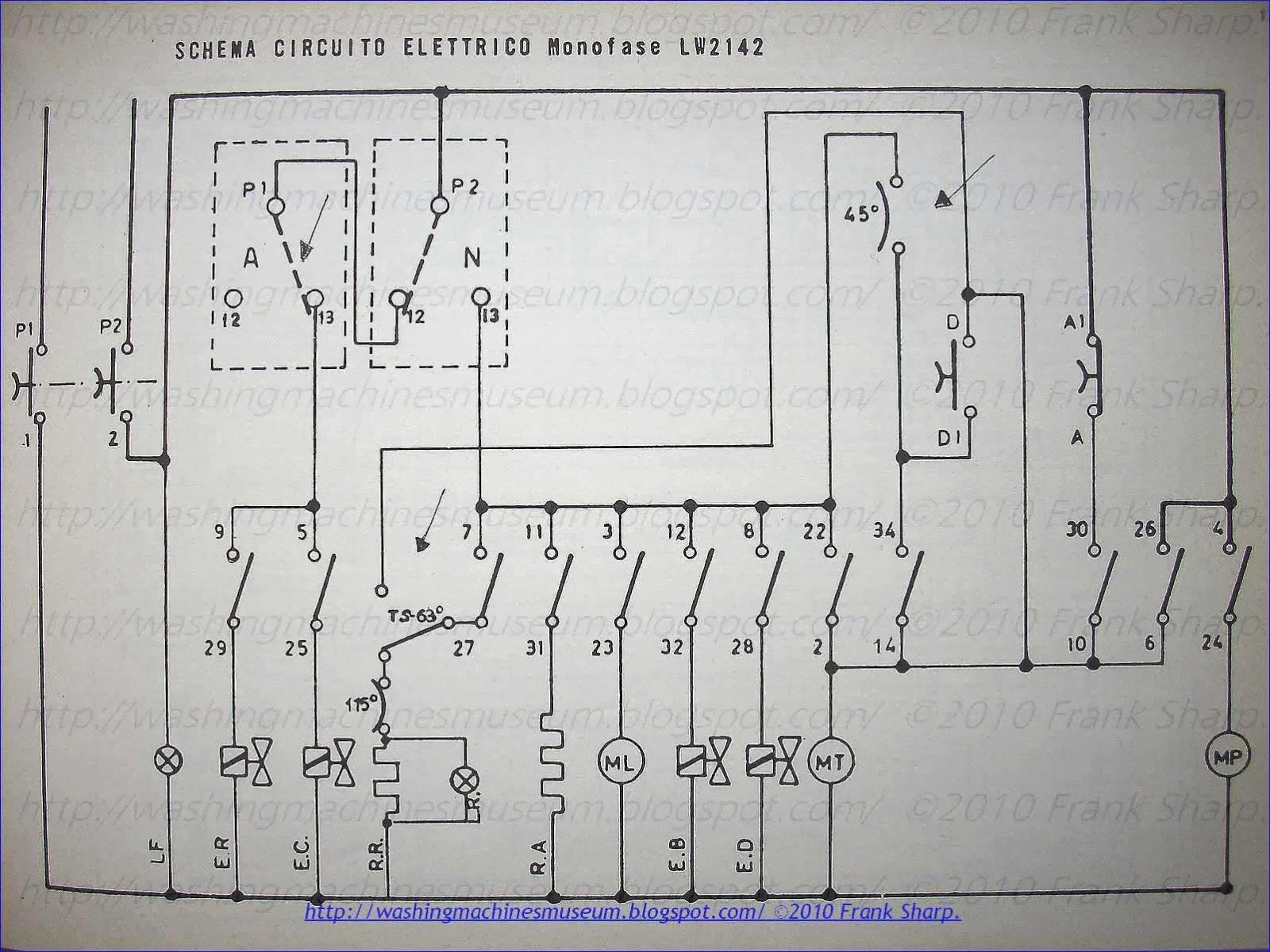 Washer Rama Museum   Philco Lw2142 - Lw2142  A  B Schematic Diagram