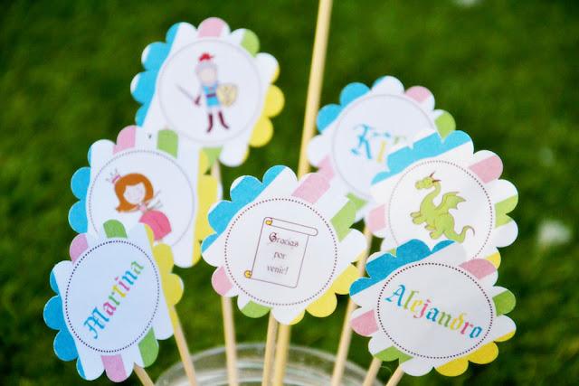 Nina designs parties fiesta princesas y caballeros - Hadas y cuscus ...