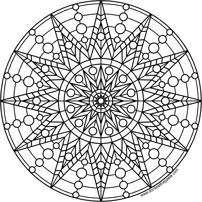 Dont Eat The Paste Sun Mandala To Print And Color