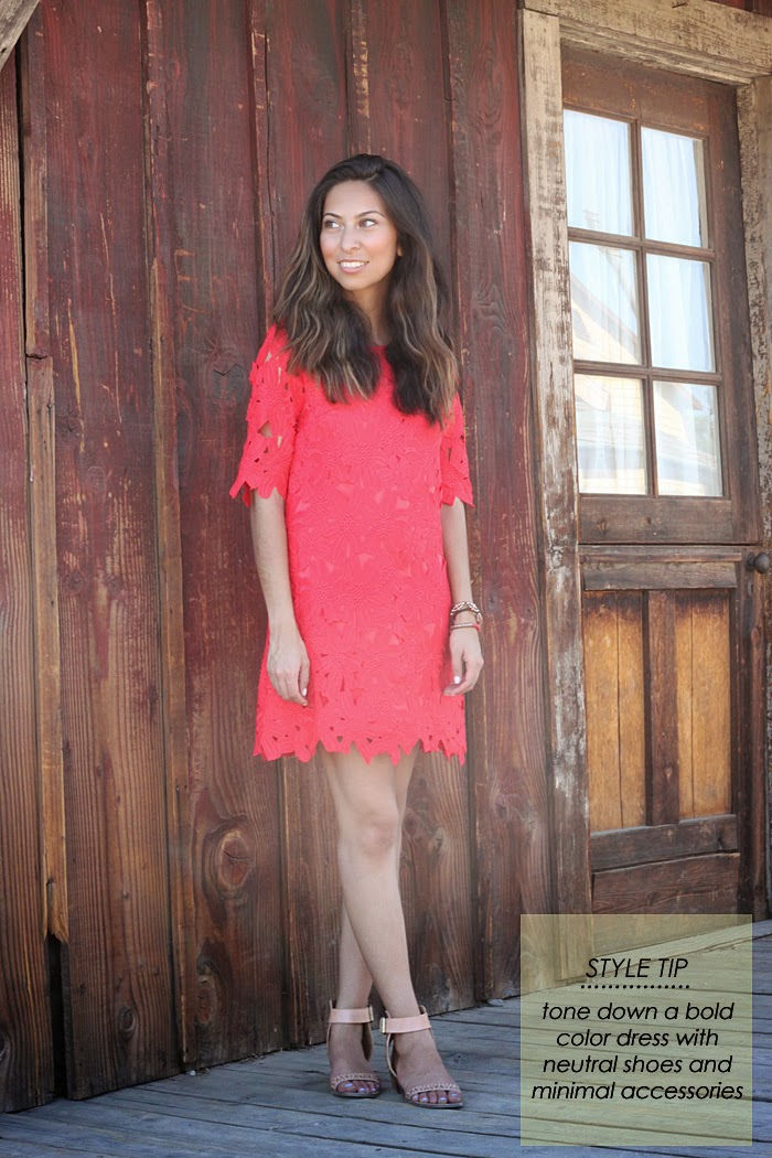 how to style a red lace dress