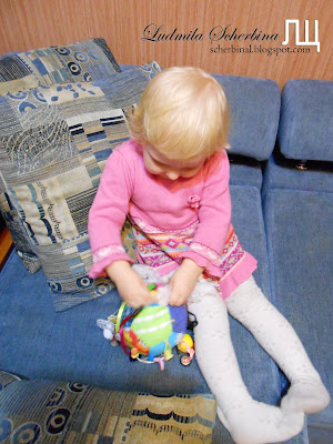 Развивающая игрушка мячик своими руками. Мастер-класс