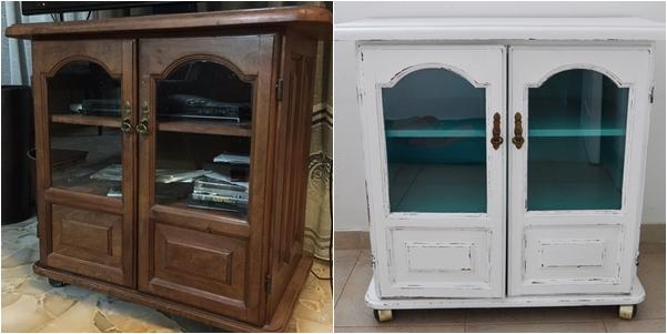 Para dos muebles de algarrobo Blanco & Color III {Aguamarino}  Vero