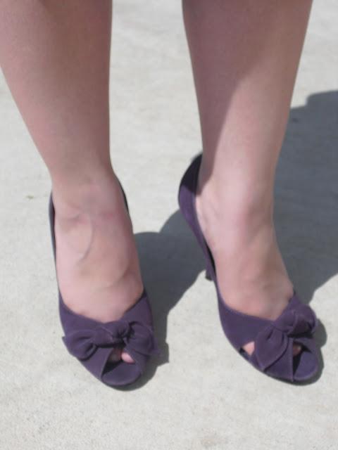Steve Madden Purple Peep-toe Suede Heels