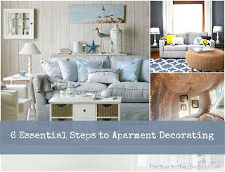 Apartment decorating. Love her 6 tips to make your apartment or any room look good!