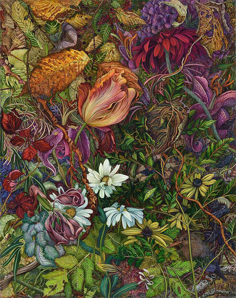 Natural Disguise: Paintings of Dense Gardens by Judy Garfin