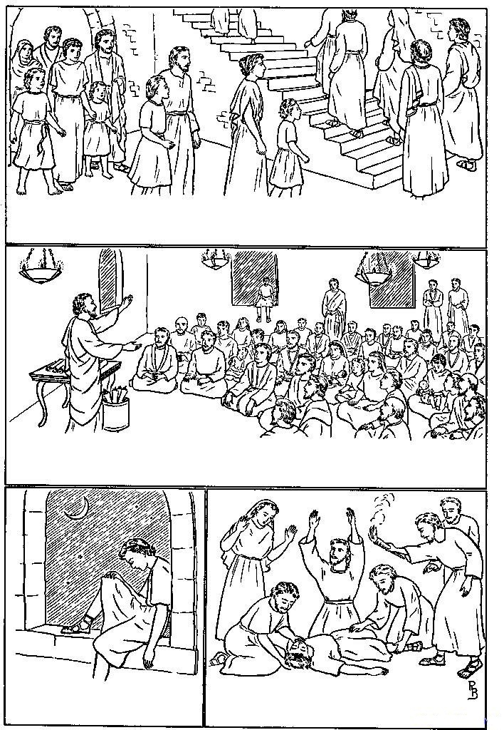 Historias de la Biblia para imprimir y colorear ~ Dibujos Cristianos ...