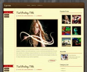 Lycus Blogger Template