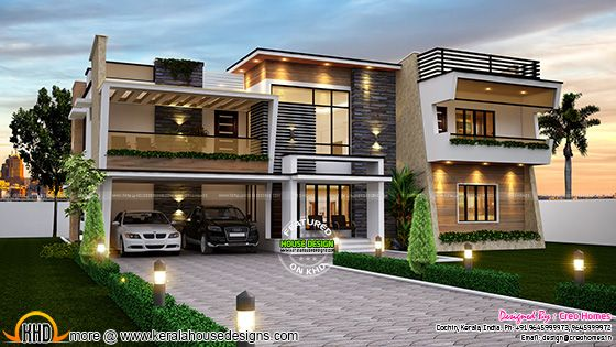 Splendid contemporary home plan
