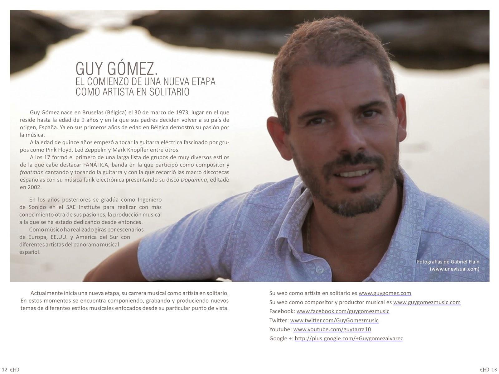 destacado, Intro, prensa, Guy Gómez, Guy Gómez music, Guy Gómez música, Guy Gómez EP Fluye, Guy Gómez Álvarez músico,