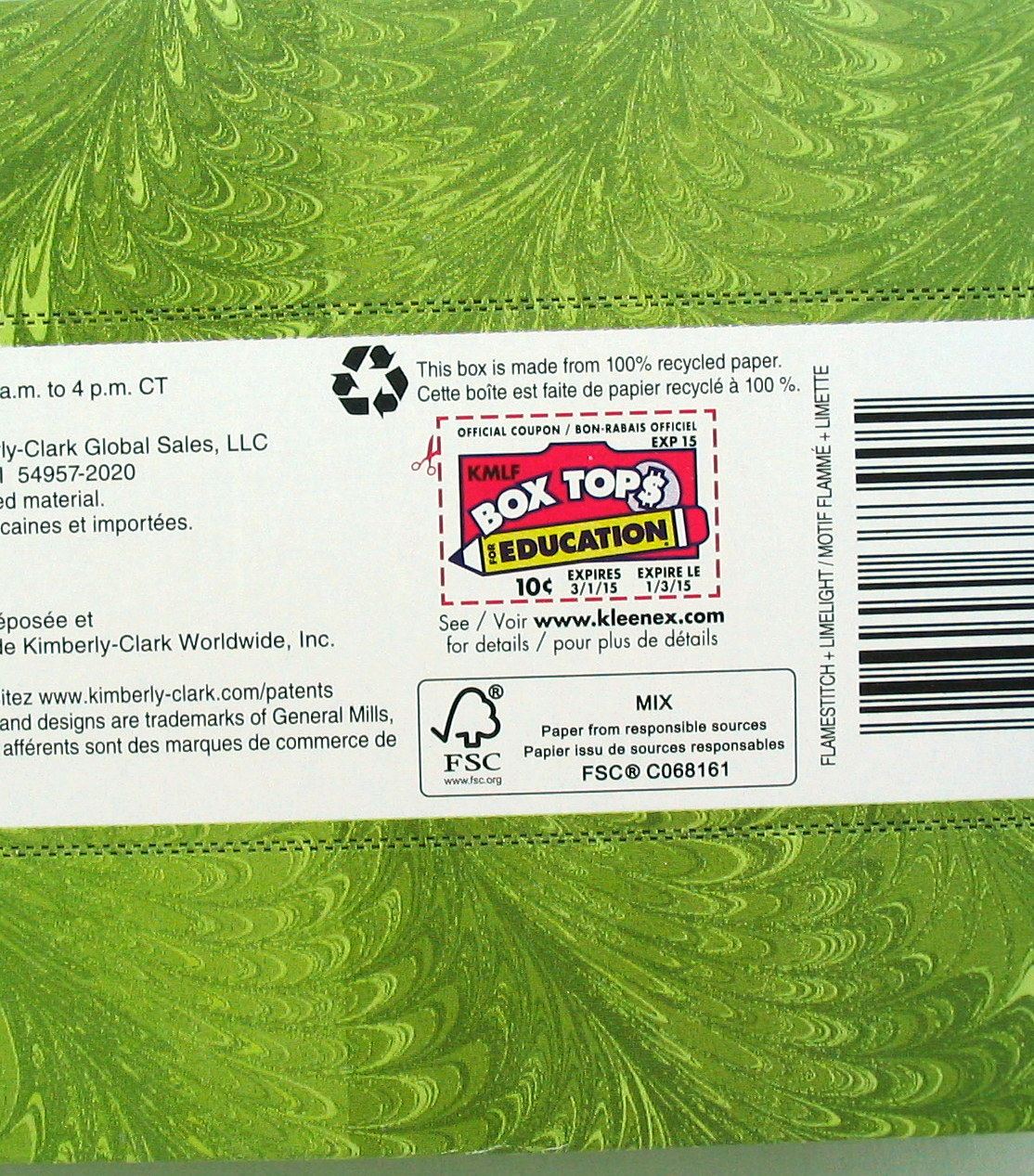 Box tops coupons