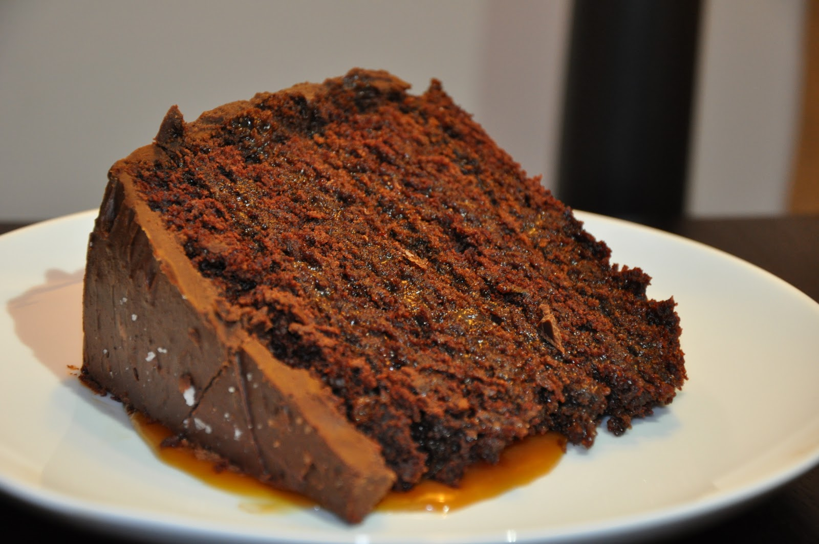 Slice of Rice: Salted Caramel Six-Layer Chocolate Cake