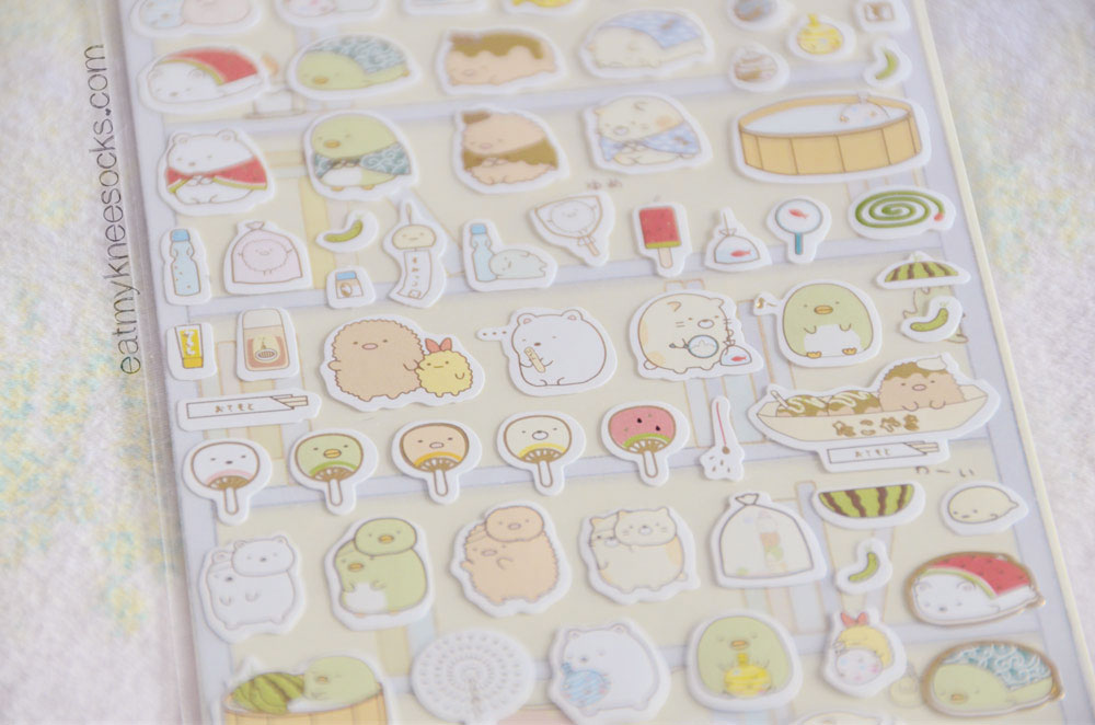 The monthly Kawaii Box is full of cute things, like this San-X Sumikko Garashi sticker set!