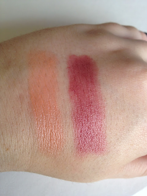 Revlon Just Bitten Kissable Balm Stain Swatches of Charm and Honey
