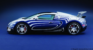 2013 Bugatti Veyron Grand Sport Exclusive Edition Official Or blanc