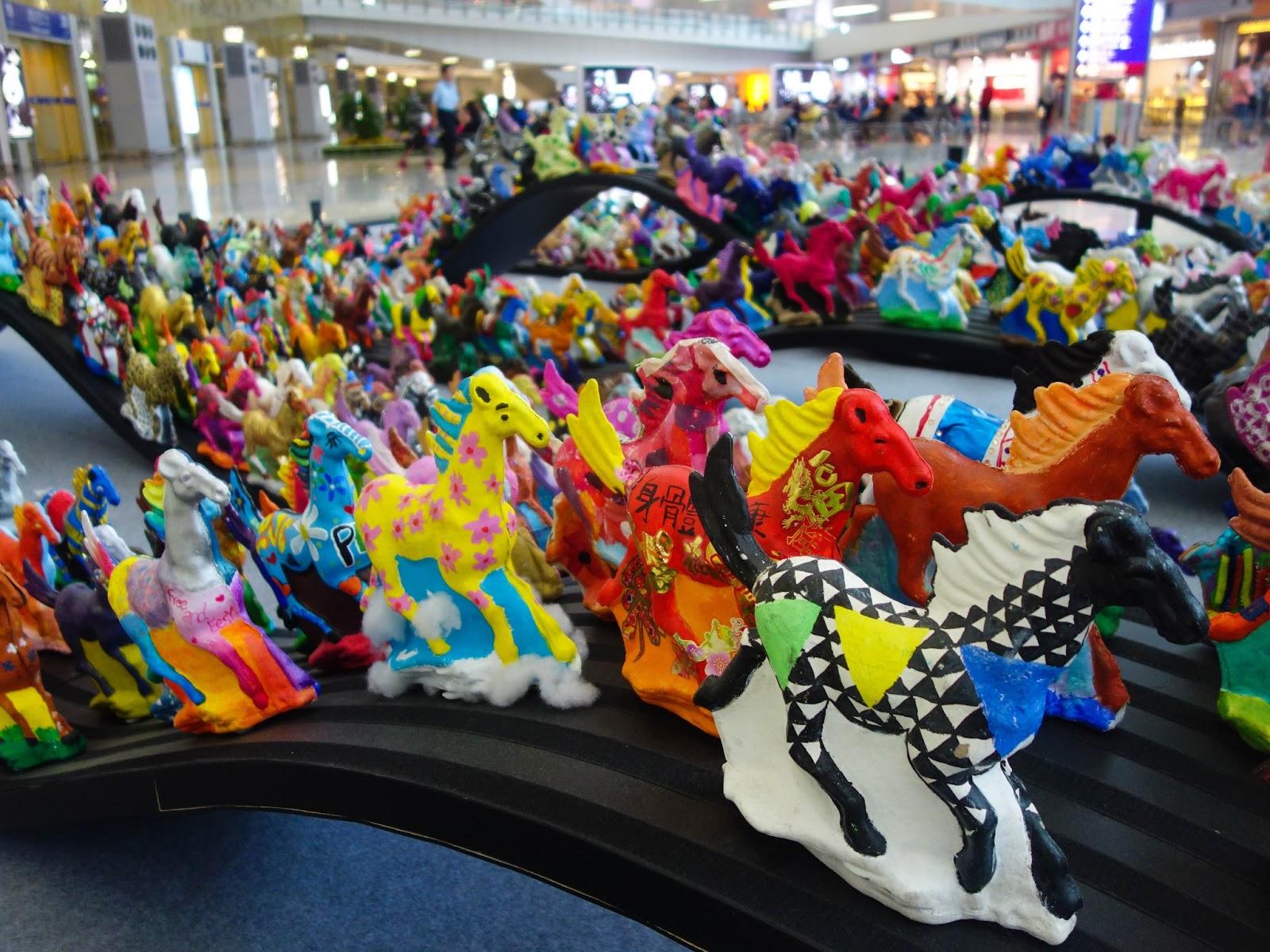 Galloping Horses Hong Kong Airport