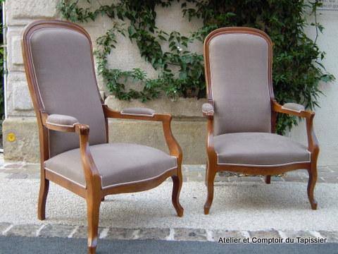 atelier et comptoir du tapissier fauteuils voltaires. Black Bedroom Furniture Sets. Home Design Ideas