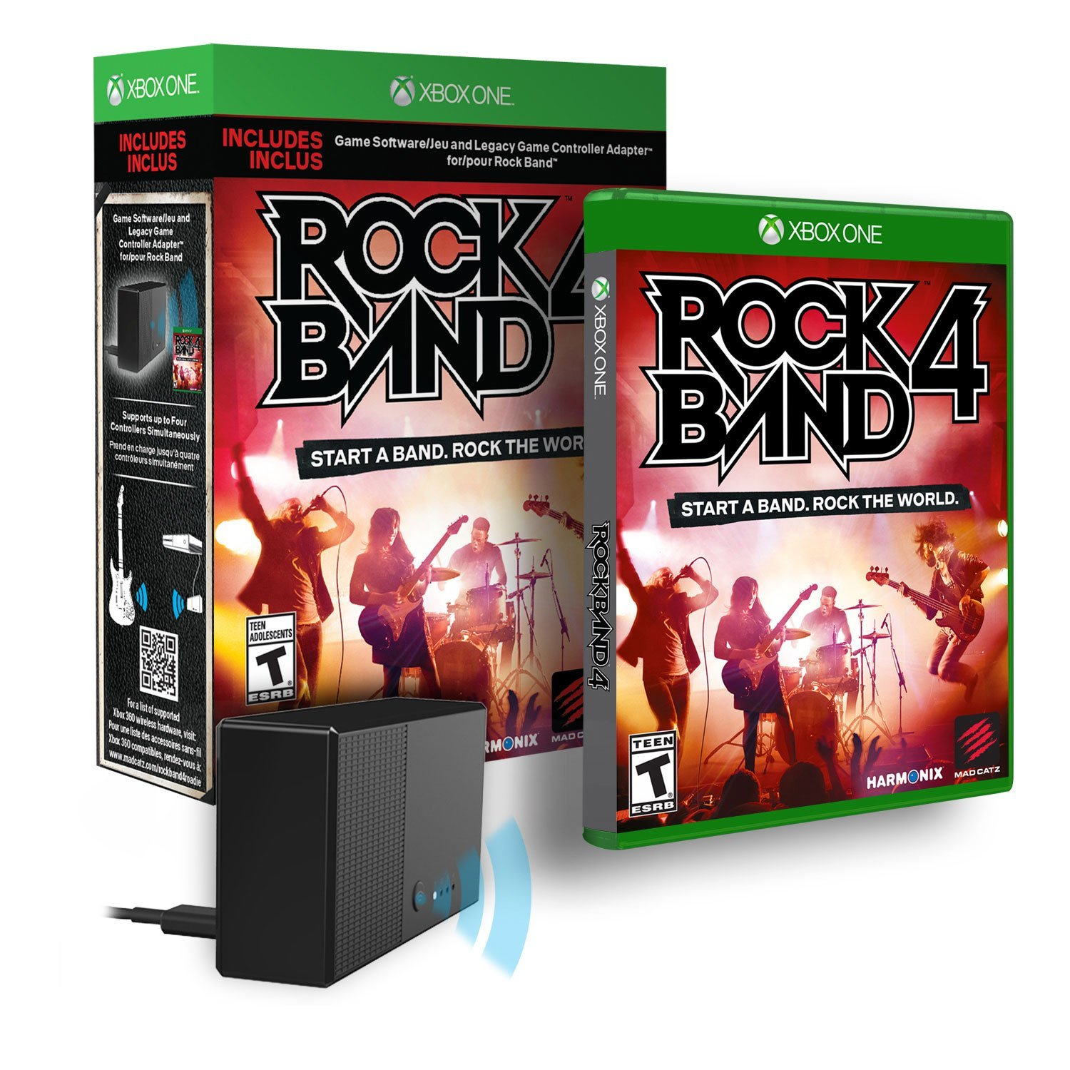 how to connect rockband guitar to xbox 360