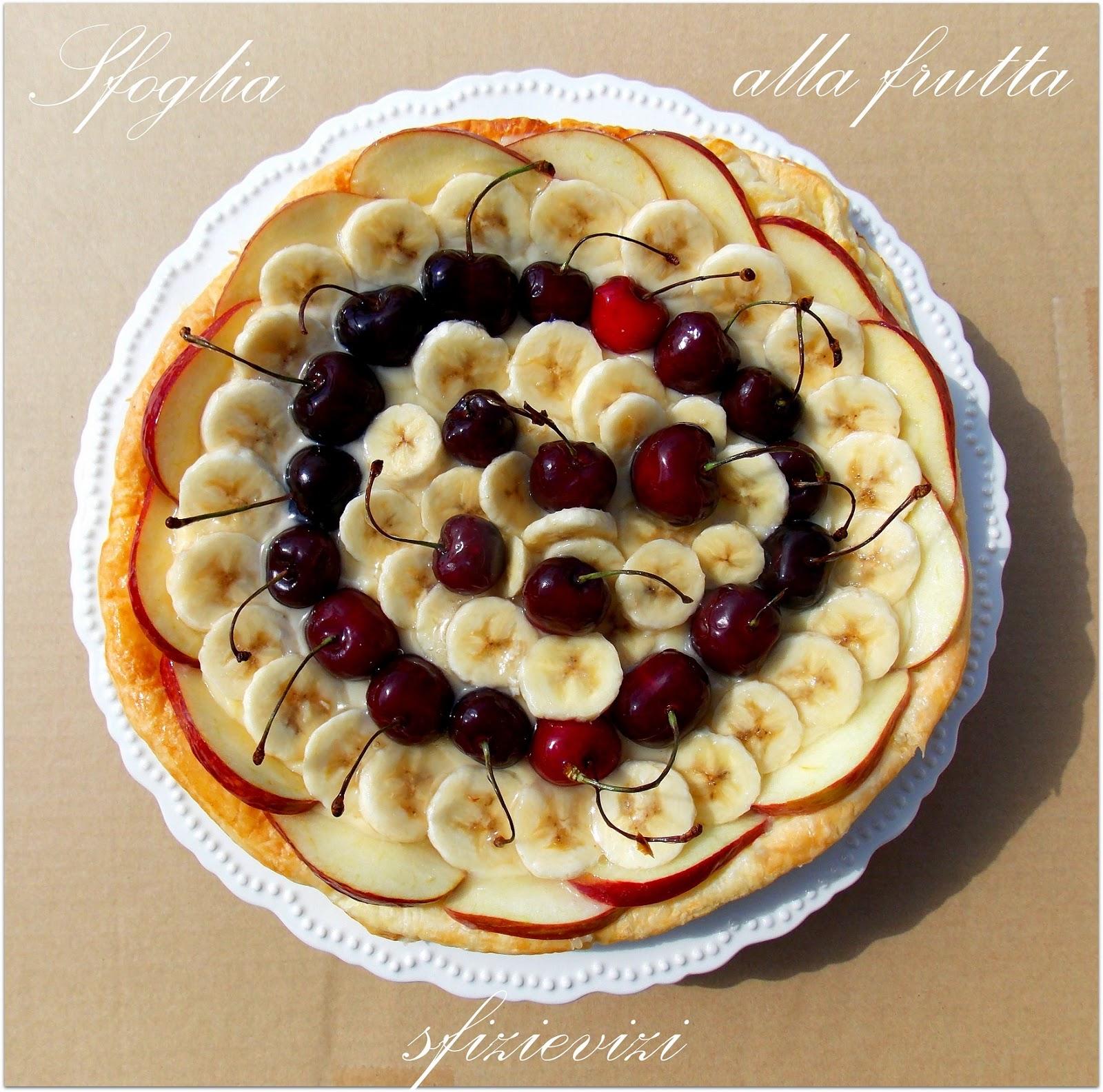 torta di pasta sfoglia con crema pasticcera e frutta - ricetta senza latticini -