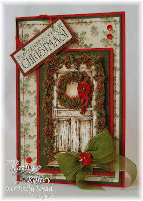 Our Daily Bread Designs, Christmas Door, Kathy Roney
