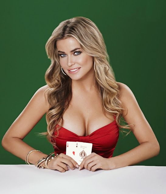 Carmen Electra with a great pair of cards and ...
