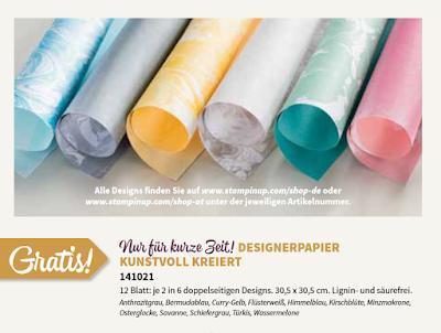 Stampin' Up! Designerpapier Kunstvoll Kreiert Sale-A-Bration 2016 SAB