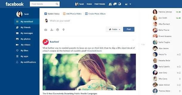 Facebook Flat trên Chrome
