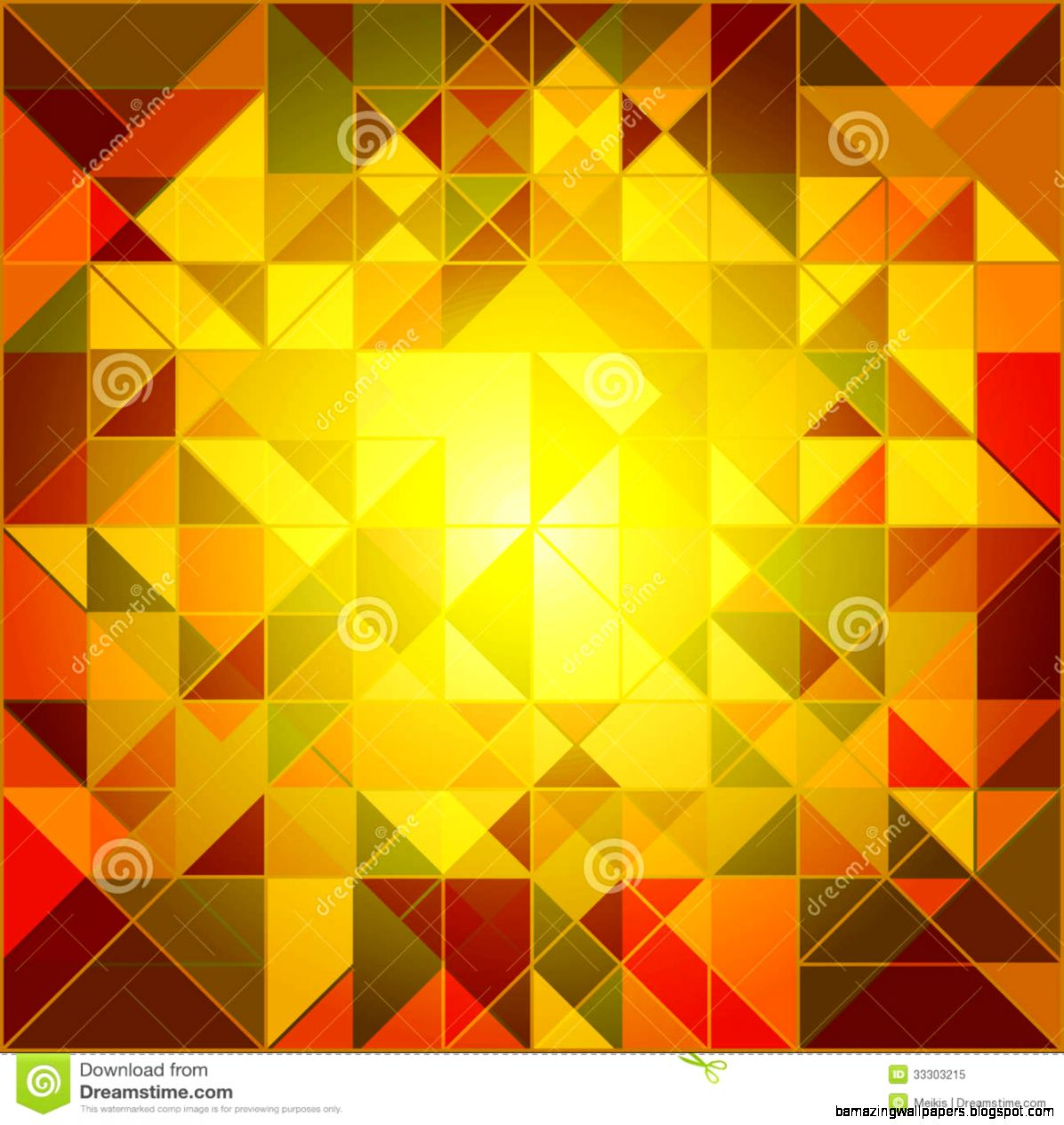 Abstract Autumn Colors Geometric Background Royalty Free Stock