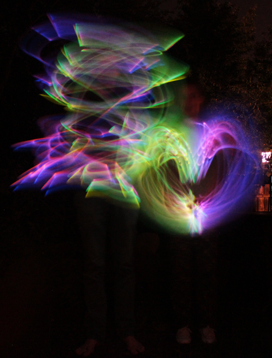 colorful heart light painting
