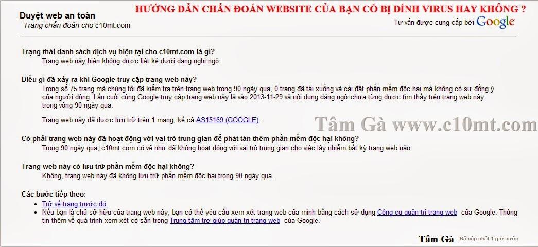 Sử dụng Google Safe Browsing